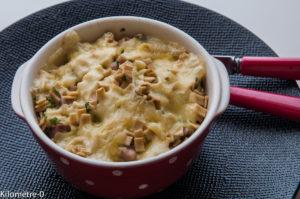 Photo de recette   facile, rapide, légère de gratin de crozets de Kilomètre-0, blog de cuisine réalisée à partir de produits locaux et issus de circuits courts