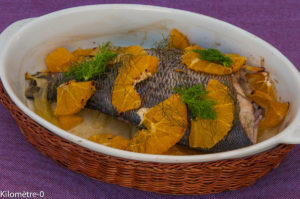 Photo de recette  facile, rapide, légère de daurade orange fenouil de Kilomètre-0, blog de cuisine réalisée à partir de produits locaux et issus de circuits courts