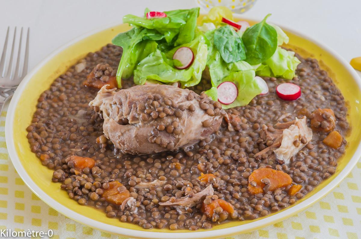 Photo de recette  facile, rapide, légère de salé aux lentilles de Kilomètre-0, blog de cuisine réalisée à partir de produits locaux et issus de circuits courts