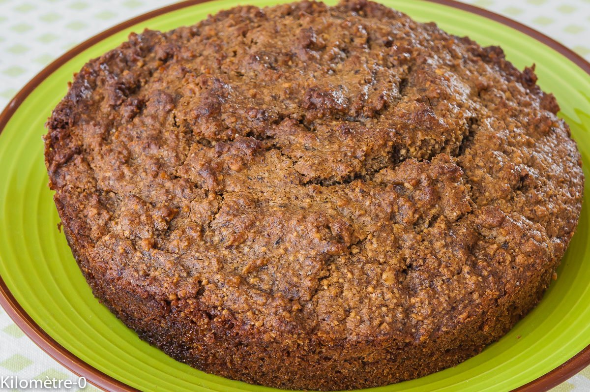Photo de recette  facile, rapide, légère de gâteau hyper rapide à la noisette de  Kilomètre-0, blog de cuisine réalisée à partir de produits locaux et issus de circuits courts