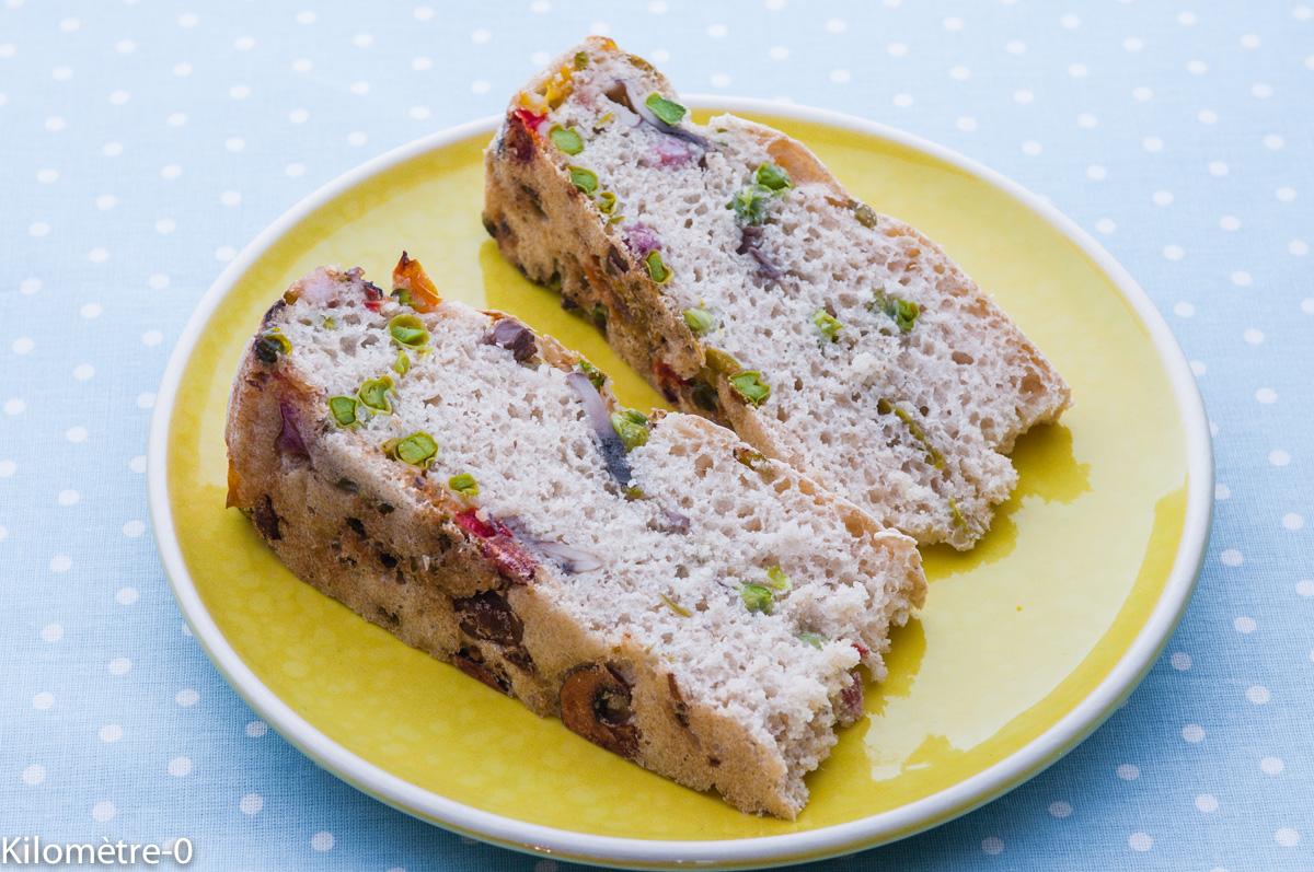 Photo de recette de pain de légumes au lard d'Alain Ducasse, facile, de  Kilomètre-0, blog de cuisine réalisée à partir de produits locaux et issus de circuits courts