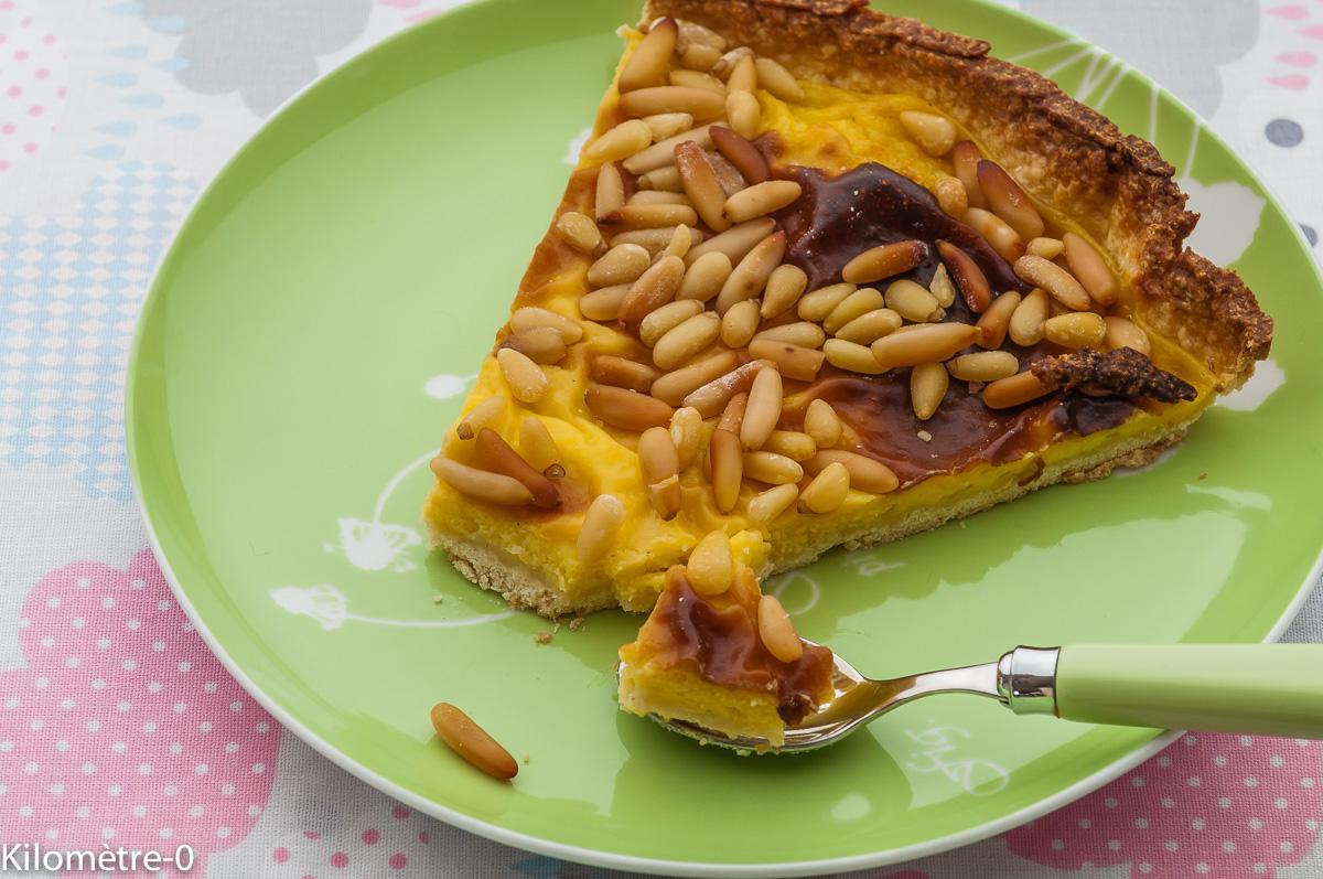 Photo de recette   facile, rapide, légère de torta della nonna de Kilomètre-0, blog de cuisine réalisée à partir de produits locaux et issus de circuits courts
