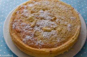 Photo de recette  facile, rapide, légère de gâteau magique vanille de Kilomètre-0, blog de cuisine réalisée à partir de produits locaux et issus de circuits courts