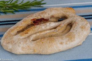 Photo de recette de fougasse parmesan jambon de Kilomètre-0, blog de cuisine réalisée à partir de produits locaux et issus de circuits courts