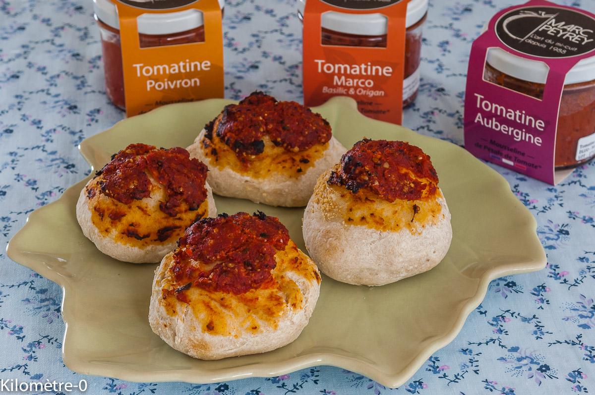 Photo de recette  facile, rapide, légère de bouchée à la tomatine de Kilomètre-0, blog de cuisine réalisée à partir de produits locaux et issus de circuits courts