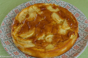 Photo de recette  facile, rapide, légère de gâteau aux pommes de Kilomètre-0, blog de cuisine réalisée à partir de produits locaux et issus de circuits courts