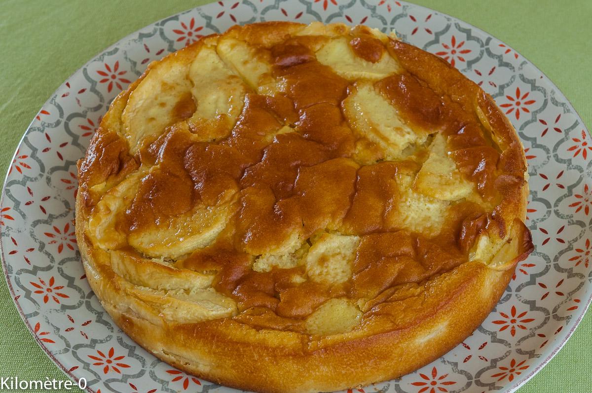 Photo de recette de dessert automnal, pommes, fruits, hiver, bio,  facile, rapide, légère de gâteau aux pommes de Kilomètre-0, blog de cuisine réalisée à partir de produits locaux et issus de circuits courts