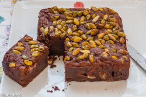 Photo de recette  facile, rapide, légère de brownie fraise balsamique de Kilomètre-0, blog de cuisine réalisée à partir de produits locaux et issus de circuits courts