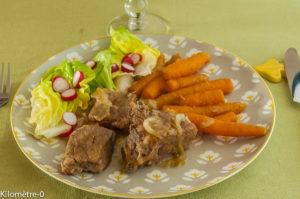 Photo de recette   facile, rapide, légère, printemps de mijoté de porc aux carottes nouvelles de Kilomètre-0, blog de cuisine réalisée à partir de produits locaux et issus de circuits courts