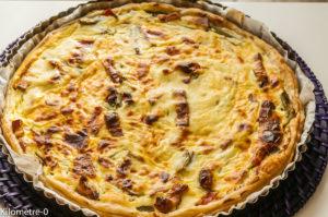 Photo de recette italienne, healthy, de tarte ricotta asperges vertes et jambon de  Kilomètre-0, blog de cuisine réalisée à partir de produits locaux et issus de circuits courts