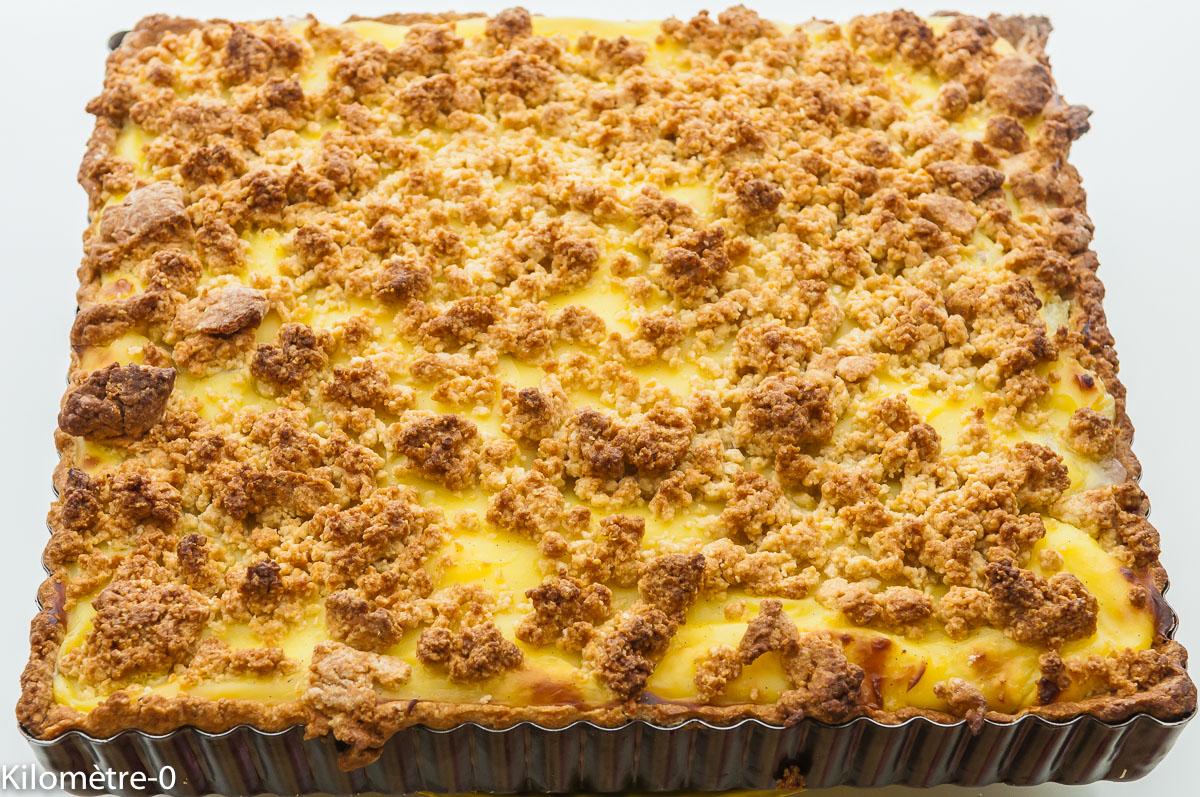 Photo de recette de  carré pâtissier rhubarbe de Kilomètre-0, blog de cuisine réalisée à partir de produits locaux et issus de circuits courts