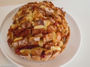 Photo de recette de pain hérisson de Kilomètre-0, blog de cuisine réalisée à partir de produits locaux et issus de circuits courts