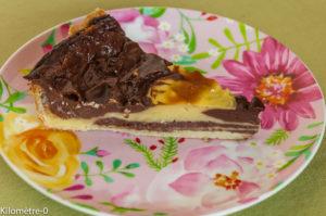 Photo de recette de flan zébré, vanille, chocolat, facile, léger, healthy, bio  de Kilomètre-0, blog de cuisine réalisée à partir de produits locaux et issus de circuits courts