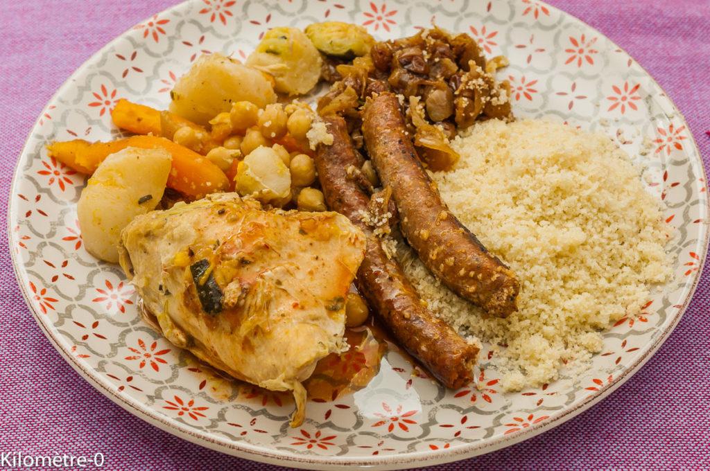 Photo de recette de couscous de Kilomètre-0, blog de cuisine réalisée à partir de produits locaux et issus de circuits courts