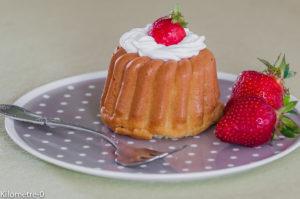 Photo de recette légère, facile, rapide, healthy de baba au rhum et aux fraises de Kilomètre-0, blog de cuisine réalisée à partir de produits locaux et issus de circuits courts