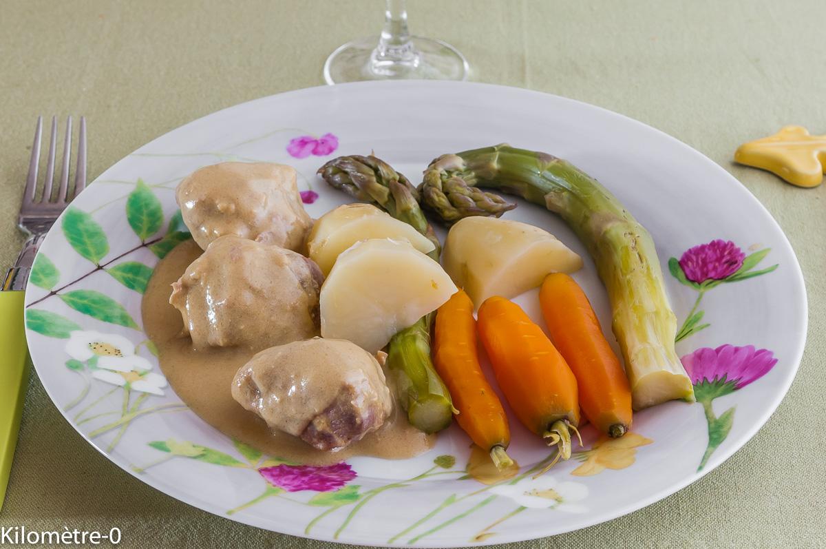 Photo de recette légère, facile, rapide, healthy de sauté de dinde à la moutarde et légumes printaniers de Kilomètre-0, blog de cuisine réalisée à partir de produits locaux et issus de circuits courts