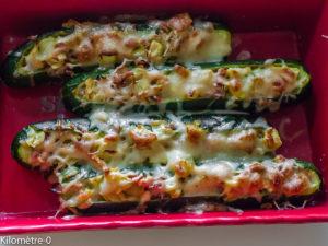 Photo de recette de courgettes farcies jambon gruyère de Kilomètre-0, blog de cuisine réalisée à partir de produits locaux et issus de circuits courts