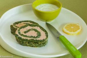 Photo de recette légère, facile, rapide, healthy de roulé de saumon aux épinards de Kilomètre-0, blog de cuisine réalisée à partir de produits locaux et issus de circuits courts