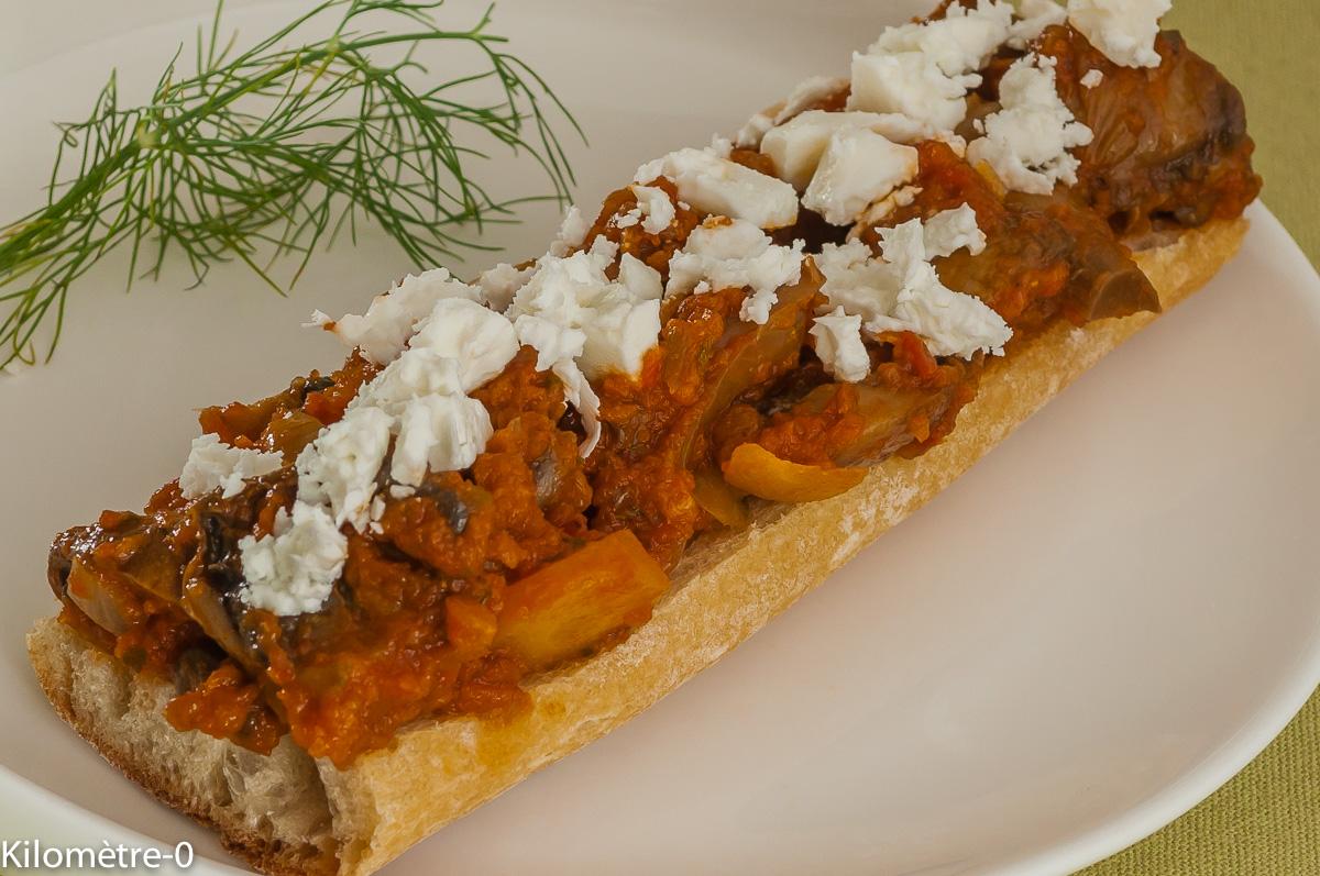 Photo de recette légère, facile, rapide, healthyde champignons à la grecque de Kilomètre-0, blog de cuisine réalisée à partir de produits locaux et issus de circuits courts