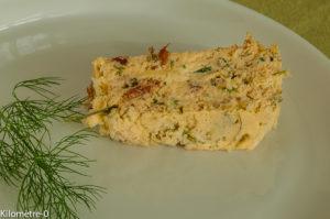 Photo de recette  facile, rapide, légère de terrine de merlu de Kilomètre-0, blog de cuisine réalisée à partir de produits locaux et issus de circuits courts