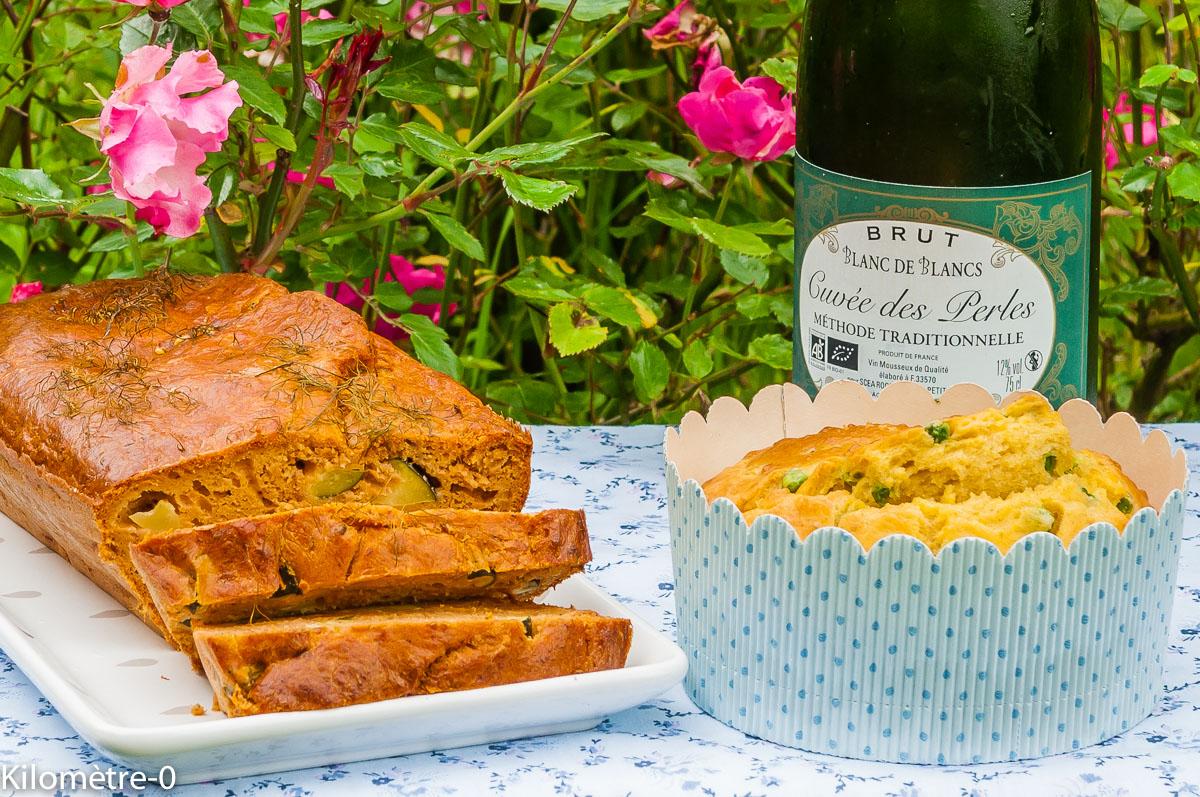 Photo de recette facile, rapide, légère, bio de cake thon courgettes de Kilomètre-0, blog de cuisine réalisée à partir de produits locaux et issus de circuits courts