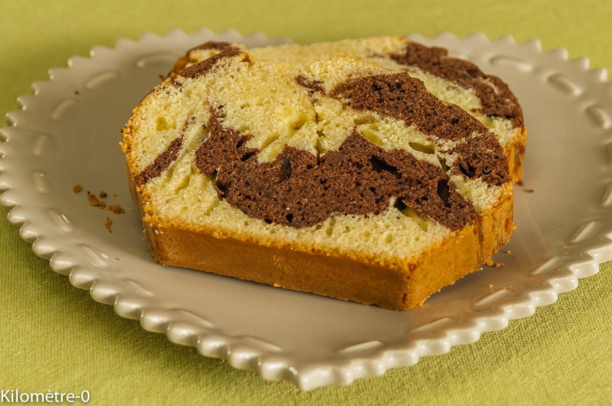 Photo de recette  facile, rapide, légère, bio de cake,  de gâteau marbré au chocolat de Kilomètre-0, blog de cuisine réalisée à partir de produits locaux et issus de circuits courts