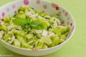 Photo de recette de concombre menthe de Kilomètre-0, blog de cuisine réalisée à partir de produits locaux et issus de circuits courts