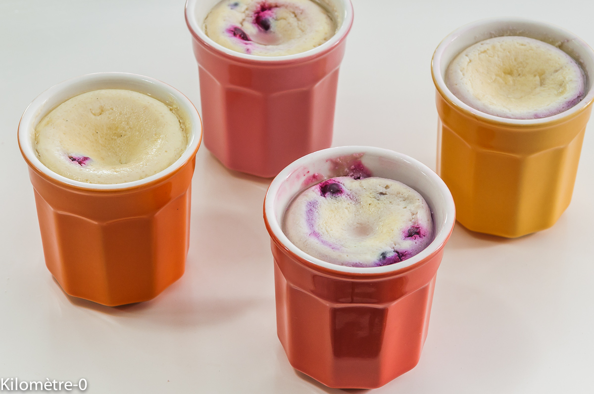 Photo de recette de crème de ricotta et cassis de Kilomètre-0, blog de cuisine réalisée à partir de produits locaux et issus de circuits courts