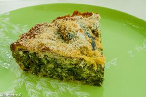 Photo de recette de clafoutis aux sardines et épinards de Kilomètre-0, blog de cuisine réalisée à partir de produits locaux et issus de circuits courts
