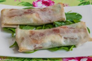 Photo de recette de brick courgette, jambon et chèvre de Kilomètre-0, blog de cuisine réalisée à partir de produits locaux et issus de circuits courts