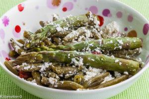 Photo de recette de salade haricots verts asperges Kilomètre-0, blog de cuisine réalisée à partir de produits locaux et issus de circuits courts