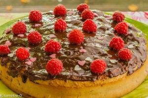 Photo de recette de gâteau framboises de Kilomètre-0, blog de cuisine réalisée à partir de produits locaux et issus de circuits courts