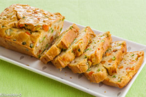 Photo de recette de cake, langoustines, petits légumes, pays de la loire, de Kilomètre-0, blog de cuisine réalisée à partir de produits locaux et issus de circuits courts