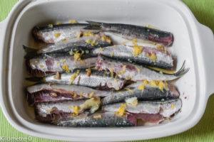 Photo de recette de sardines citron pastis de Kilomètre-0, blog de cuisine réalisée à partir de produits locaux et issus de circuits courts