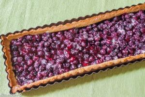 Photo de recette de tarte myrtilles de Kilomètre-0, blog de cuisine réalisée à partir de produits locaux et issus de circuits courts