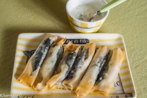 Photo de recette de bricks sardine facile léger fromage blanc été  Kilomètre-0, blog de cuisine réalisée à partir de produits locaux et issus de circuits courts