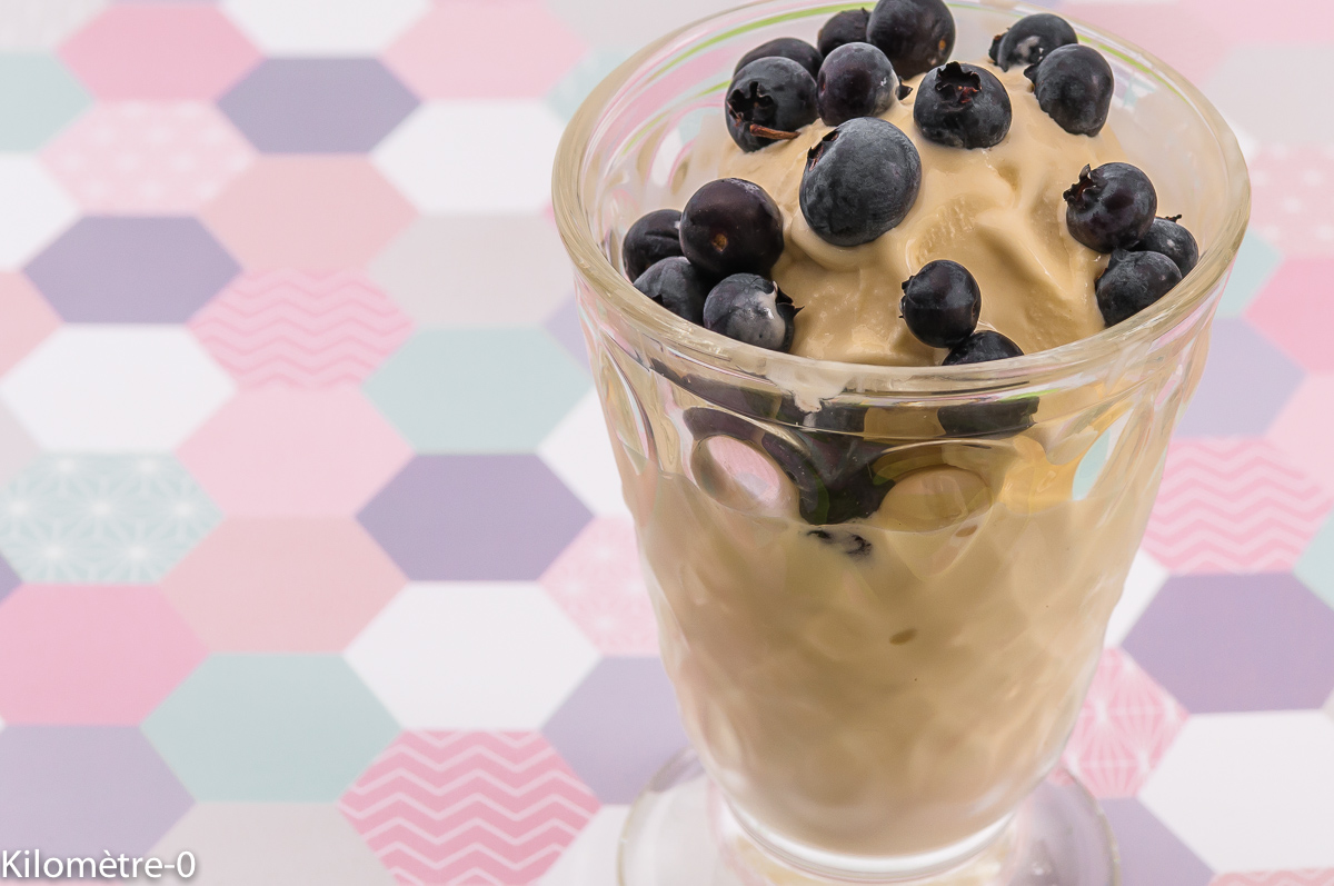 Photo de recette de glace myrtilles été italie facile Kilomètre-0, blog de cuisine réalisée à partir de produits locaux et issus de circuits courts