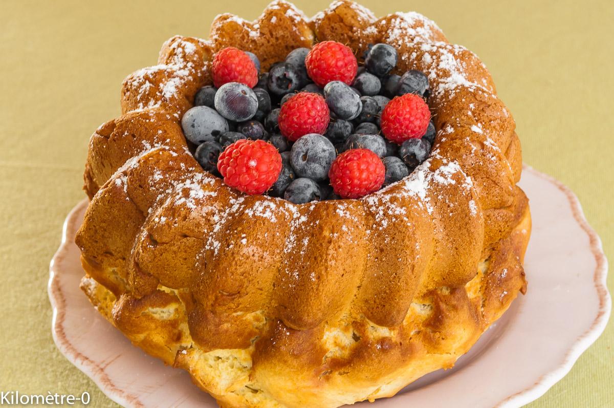 Photo de recette de gâteau facile ricotta fruits rouges myrtilles framboise Kilomètre-0, blog de cuisine réalisée à partir de produits locaux et issus de circuits courts