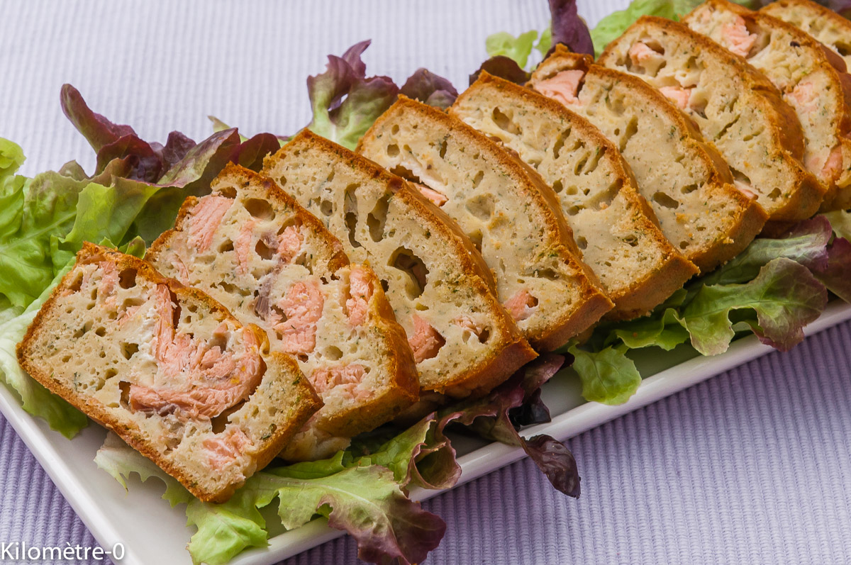 Photo de recette de cake anisé au saumon facile de Kilomètre-0, blog de cuisine réalisée à partir de produits locaux et issus de circuits courts