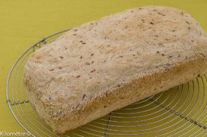 Photo de recette de pain facile, rapide de Kilomètre-0, blog de cuisine réalisée à partir de produits locaux et issus de circuits courts
