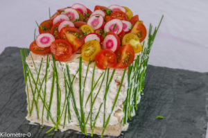 Photo de recette de sandwich cake, apéro,beau, facile, rapide de Kilomètre-0, blog de cuisine réalisée à partir de produits locaux et issus de circuits courts