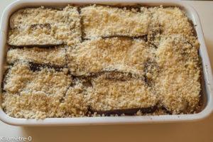 Photo de recette de moussaka légère de Kilomètre-0, blog de cuisine réalisée à partir de produits locaux et issus de circuits courts