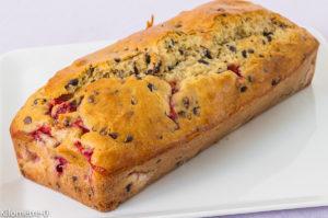 Photo de recette de gâteau du matin fraises chocolat facile rapide léger de  Kilomètre-0, blog de cuisine réalisée à partir de produits locaux et issus de circuits courts