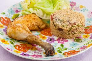 Photo de recette de poulet mariné au taboulé, facile, léger, estival, rapide deKilomètre-0, blog de cuisine réalisée à partir de produits locaux et issus de circuits courts