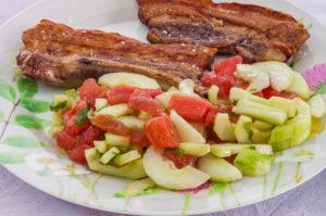 Photo de recette de travers de porc à la grecque, facile, économique, rapide, grillade de Kilomètre-0, blog de cuisine réalisée à partir de produits locaux et issus de circuits courts