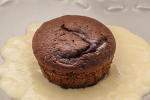 Photo de recette de fondant au chocolat léger, rapide, facile de Kilomètre-0, blog de cuisine réalisée à partir de produits locaux et issus de circuits courts