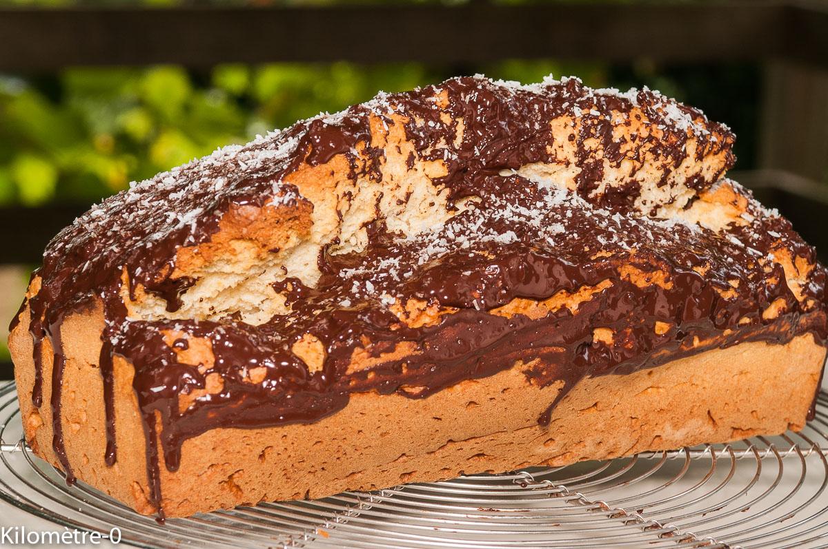 Photo de recette de gâteau du matin à la noix de coco facile, rapide, économique, bio de Kilomètre-0, blog de cuisine réalisée à partir de produits locaux et issus de circuits courts