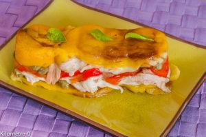 Photo de recette de terrine de raie aux poivrons de Kilomètre-0, blog de cuisine réalisée à partir de produits locaux et issus de circuits courts