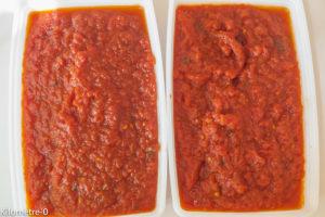 Photo de recette de coulis de tomates bio de Kilomètre-0, blog de cuisine réalisée à partir de produits locaux et issus de circuits courts