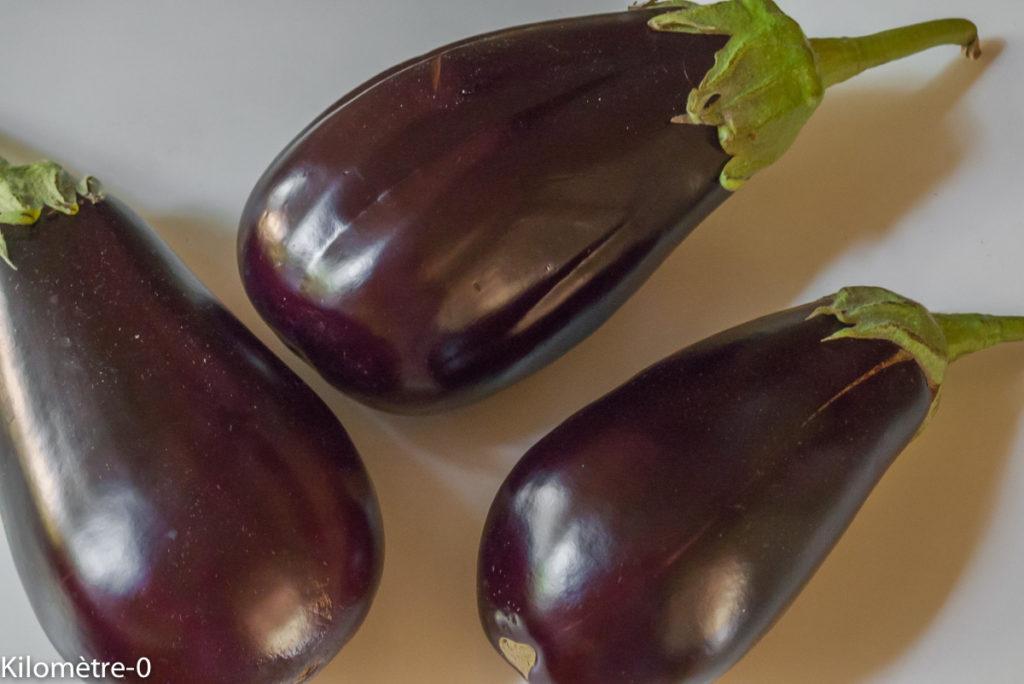 Photo de recette d'aubergines facile,légère, rapide, bio de Kilomètre-0, blog de cuisine réalisée à partir de produits locaux et issus de circuits courts